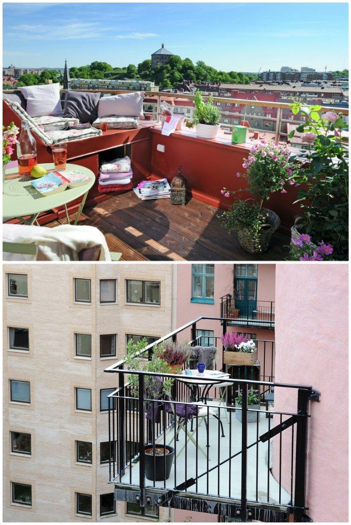 petits balcons décorés