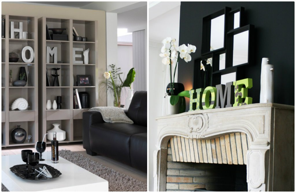 lettres home salon
