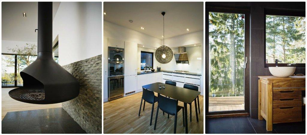 Maison en bois moderne et design for Modele deco interieur