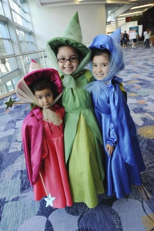 Se déguisement en famille pour Halloween en fées de Cendrillon