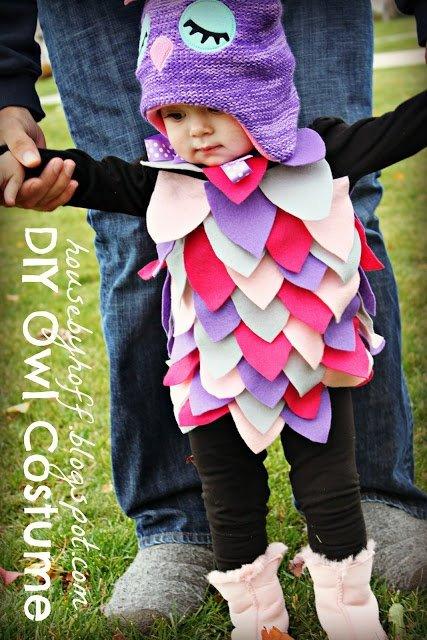 Mignon déguisement de chouette pour Halloween
