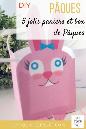 DIY Pâques panier et lapin #paques #diy #easter #kids #activités