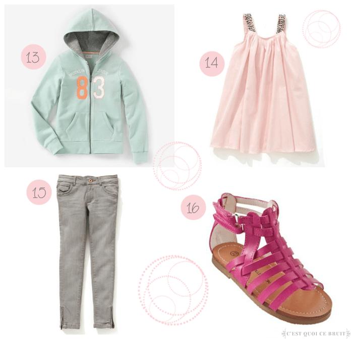 Sélection shopping à petit prix pour jolie petite fille (mode enfant)