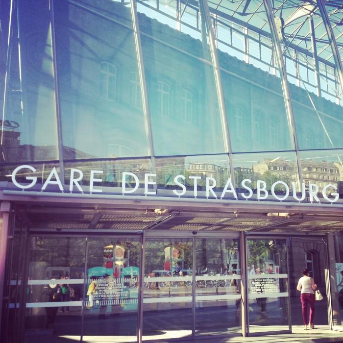 A la découverte de l'Alsace ! gare de Strasbourg