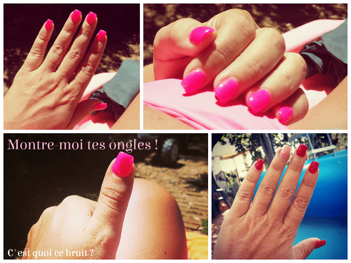 Montre-moi tes ongles rose fluo