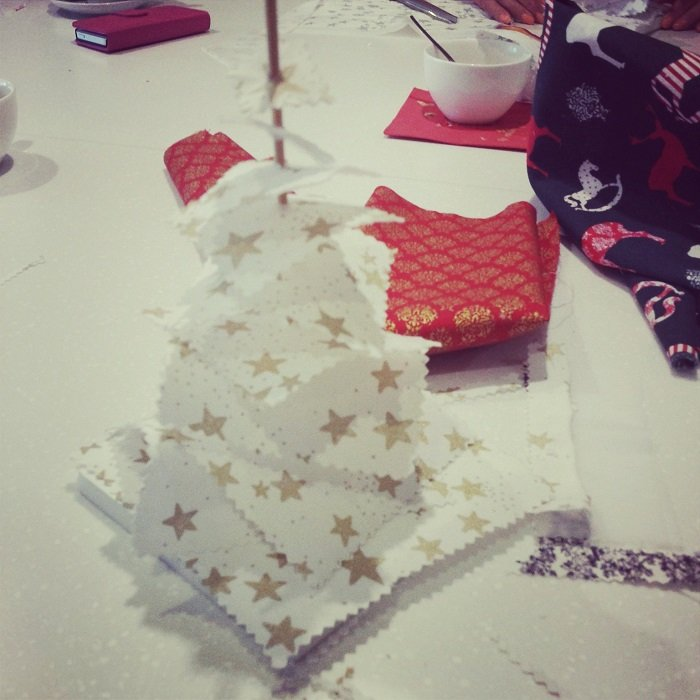 Mondial Tissus : tuto sapin de Noël