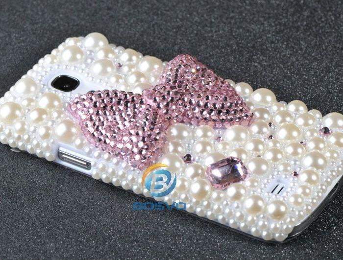 coque de téléphone bling-bling perles