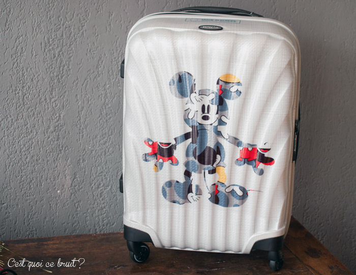 Celle qui partait à Disney avec sa valise Disney ! Disney by samsonite (valise Cosmolite)