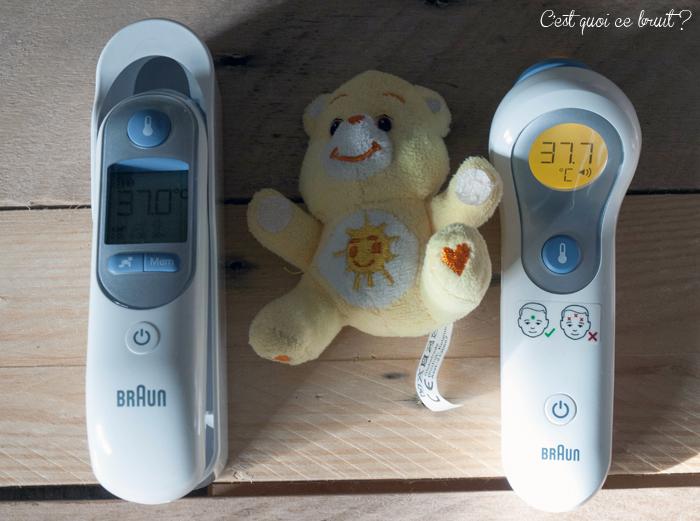 Fièvre de l'enfant et thermomètres Braun