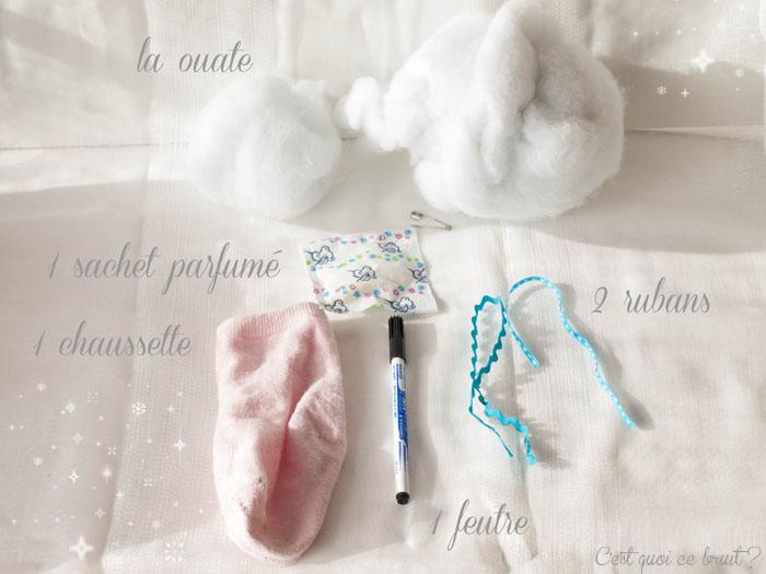 DIY Le doudou d'armoire parfumé avec une chaussette !