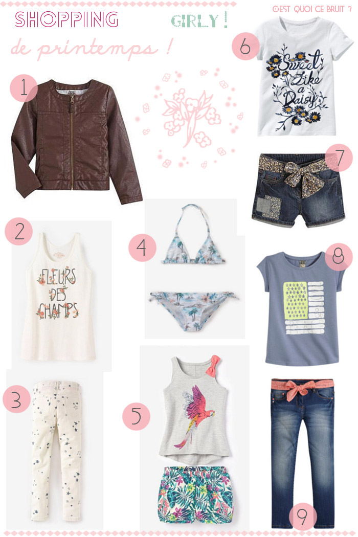 wishlist mode printanière pour fille