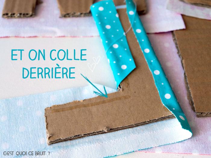 DIY : Son prénom en grandes lettres décorées de tissu !