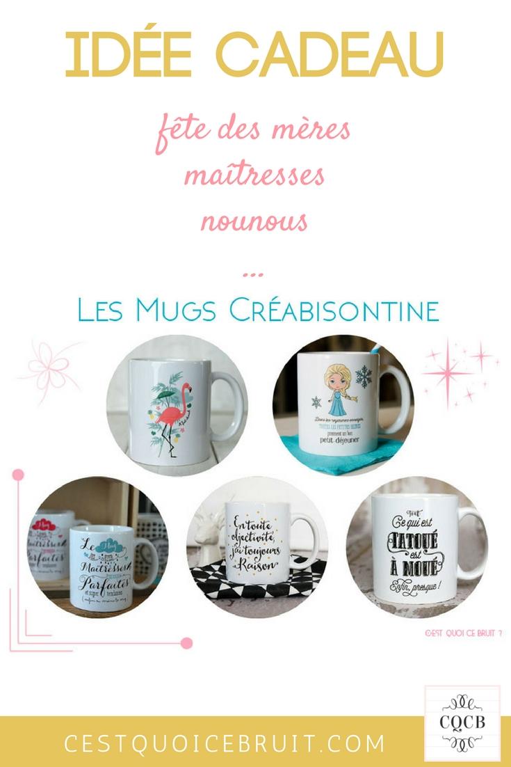 Idées cadeaux : les mugs de Créabisonine sur Etsy #cadeaux #maitresses #maman #mug
