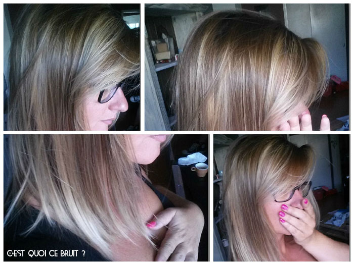 Coloration blonde écaille de tortue ombre hair