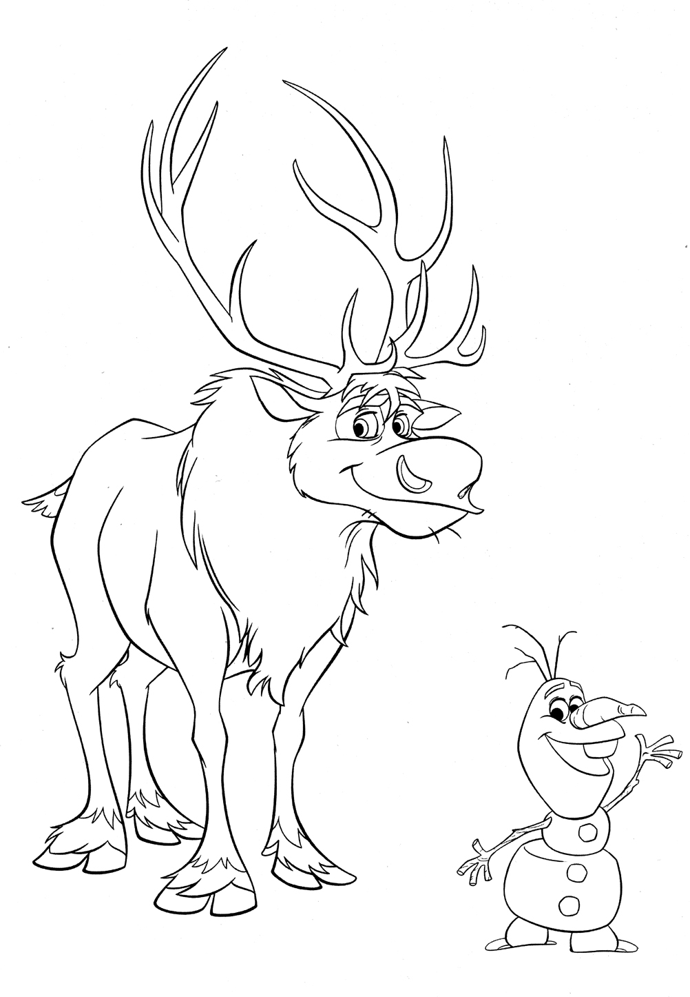 Coloring Pages Of Disney Frozen : Free coloring pages of olaf and wite
