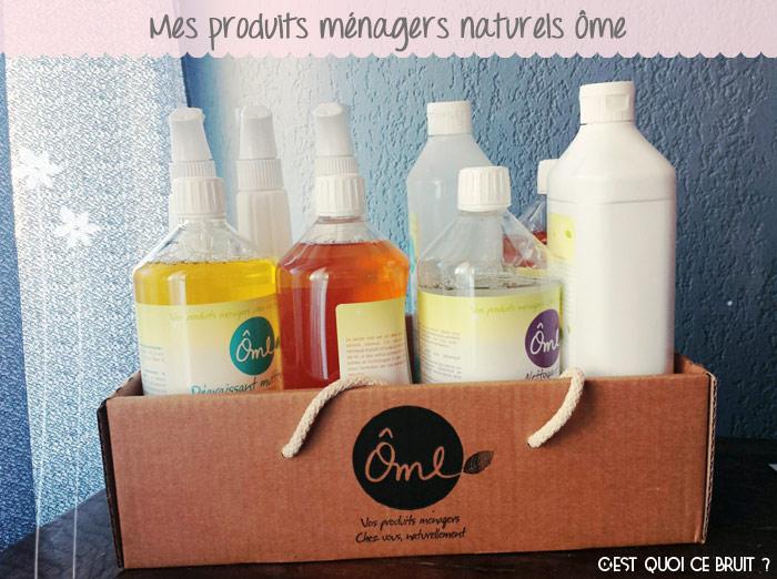 Test des produits ménagers Ôme pour un ménage naturel et écolo