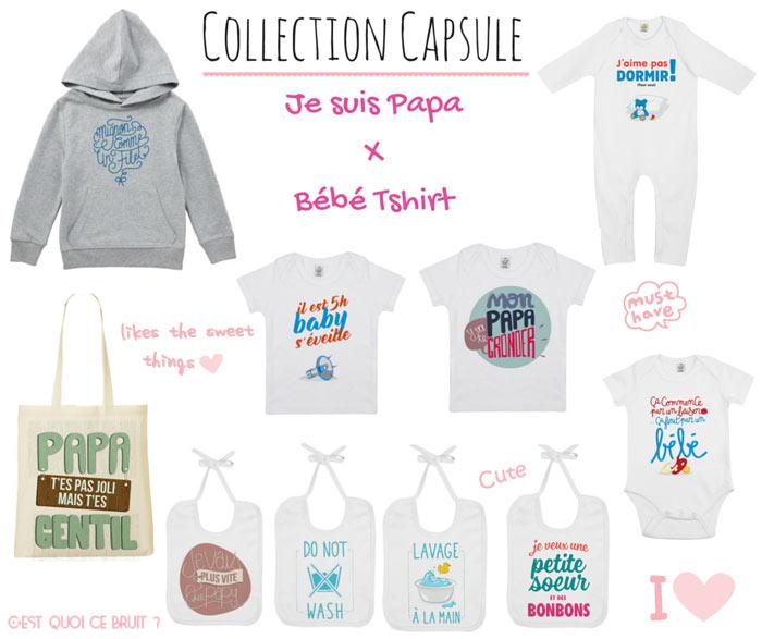 Collection capsule Je suis Papa - Bébé Tshirt