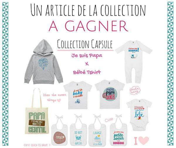 Collection Capsule Je suis papa X bébé Tshirt