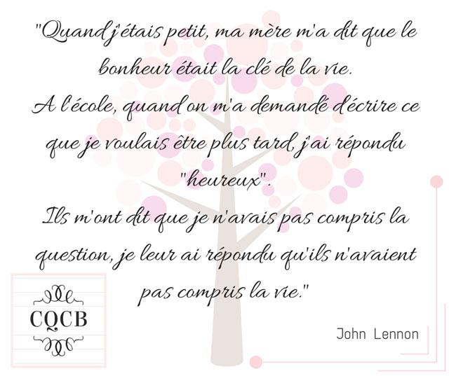 Citation de John Lennon sur l'école et la vie