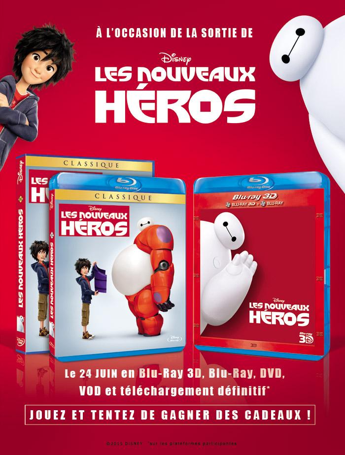 Les nouveaux héros de Disney, sortie DVD à gagner !