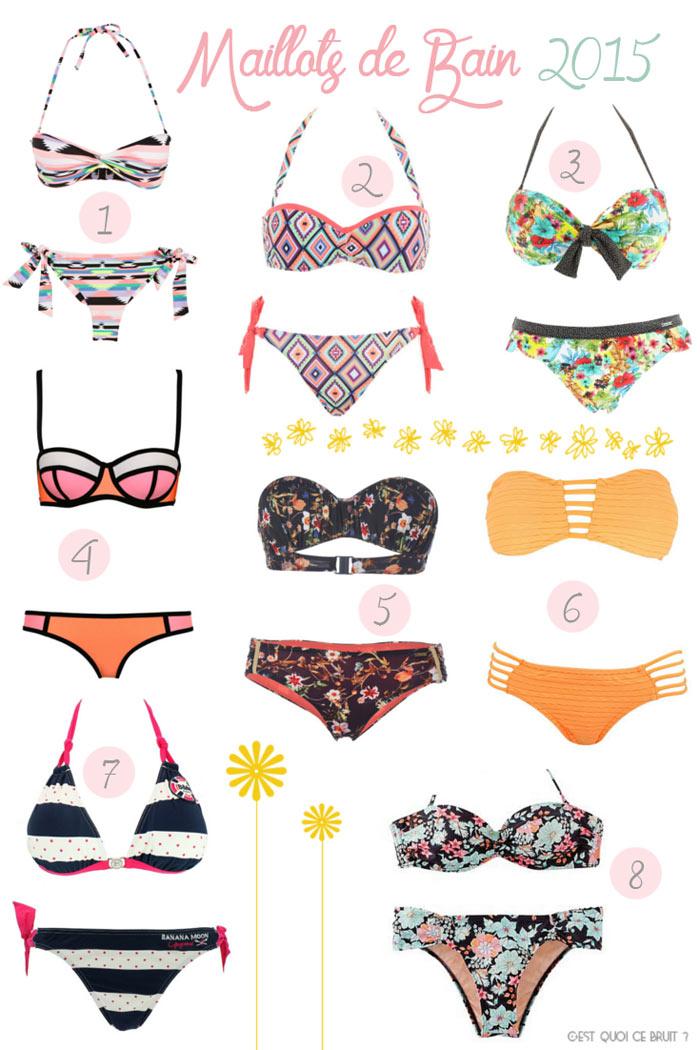 Sélection de maillots de bain pour l'été 2015