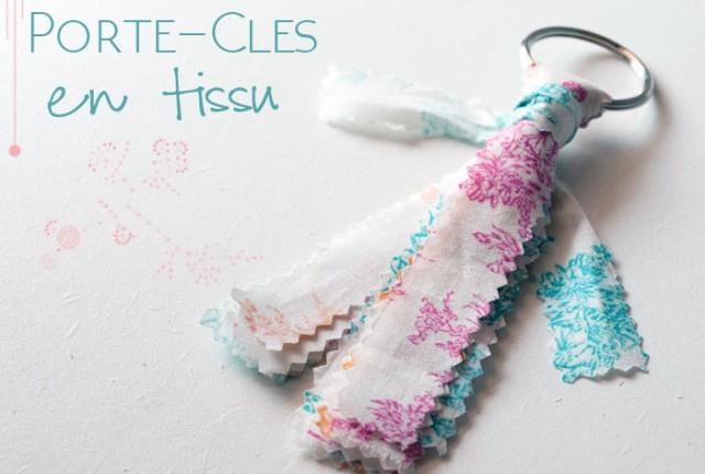 DIY enfant fabriquer un porte-clés en tissu facilement