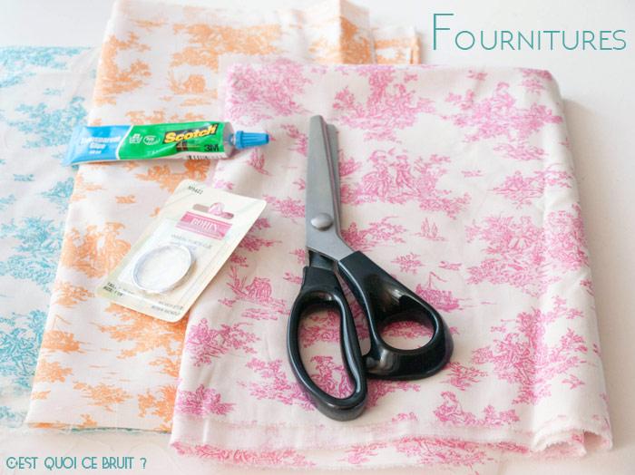 Fabriquer un porte-clés en tissu facilement
