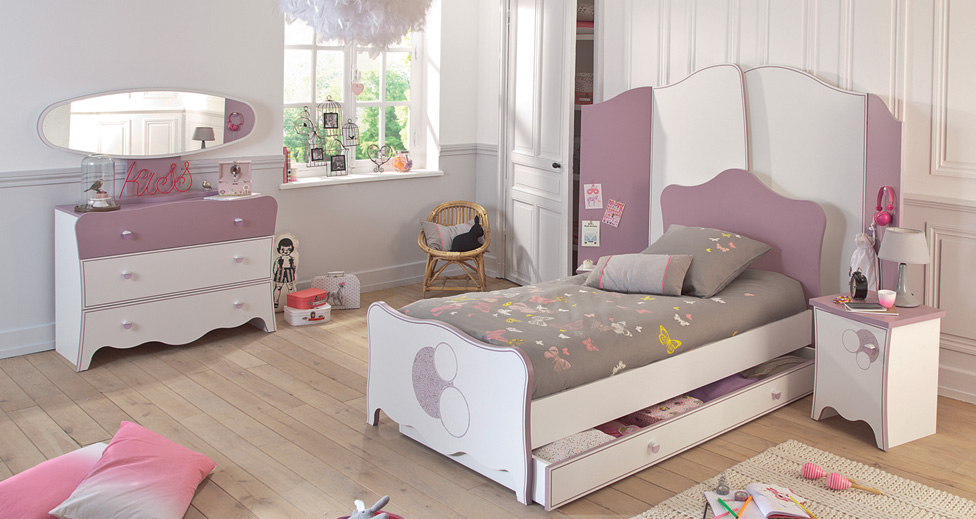 d corer une chambre de fille. Black Bedroom Furniture Sets. Home Design Ideas