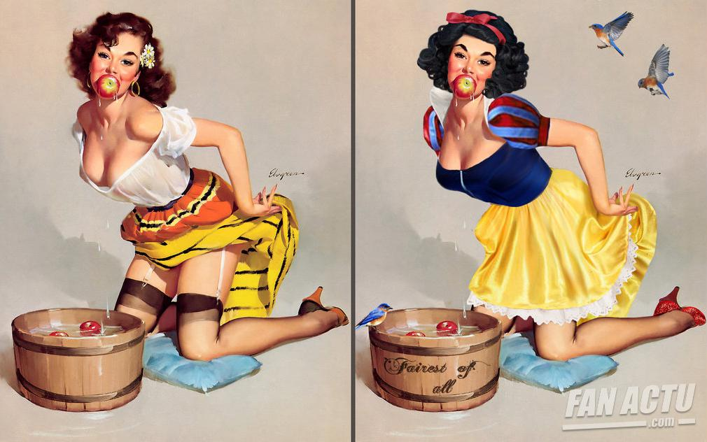 Les pin-up en princesses Disney