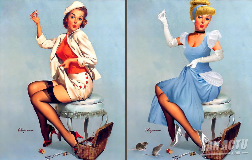 Les pin-up transformées en princesses Disney