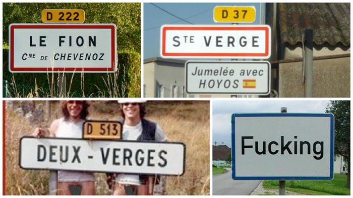 Mardi sexy : ces noms de ville qui font marrer