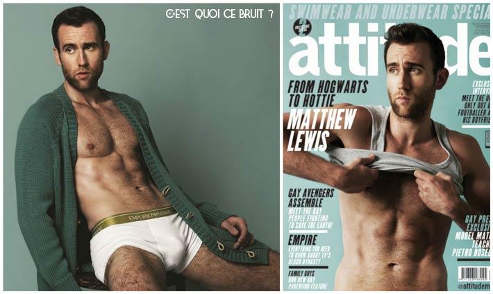Matthew Lewis Neville de Harry Potter devenu hyper sexy