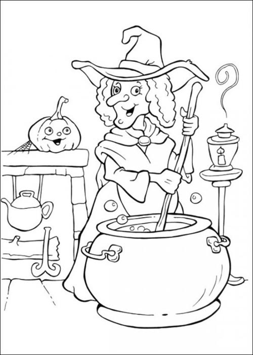 elves coloring pages images witch - photo#30