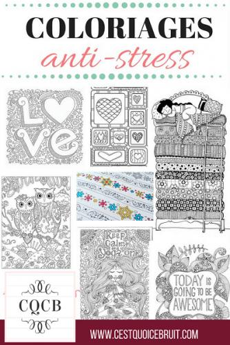 Etre zen : Des coloraiges anti-stress pour adultes à imprimer gratuitement sur http://cestquoicebruit.com