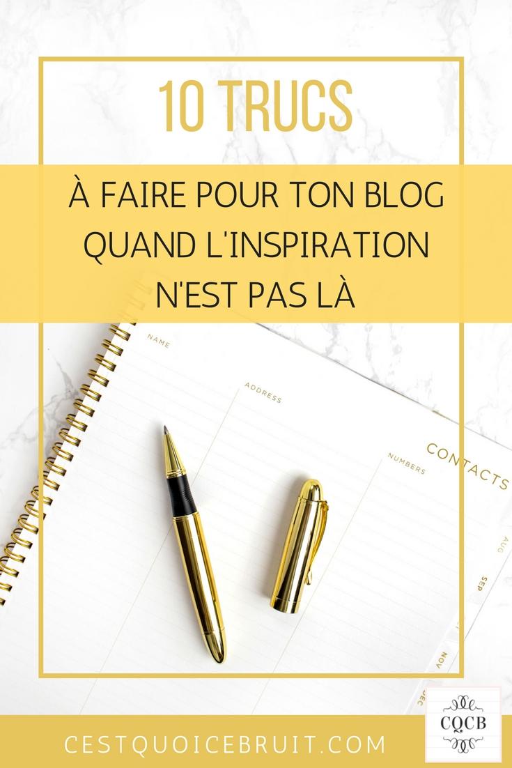 10 choses à faire pour son blog quand l'inspiration n'est pas là #inspiration #blog #blogueuse #blogging #conseilsblog #coaching #socialmedia