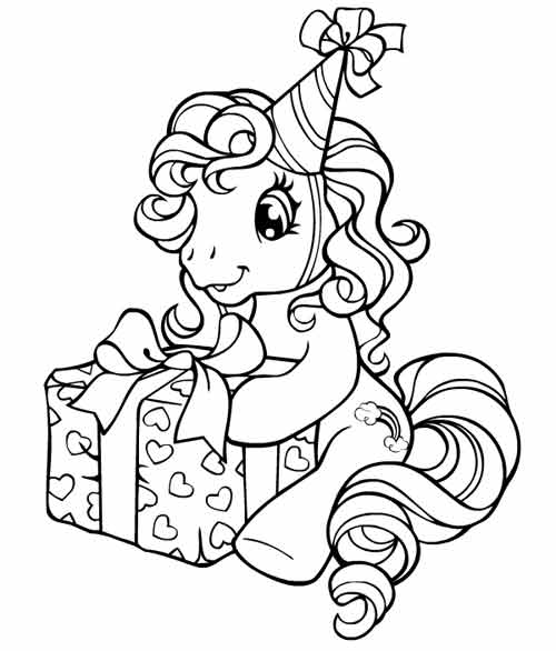 Coloriage gratuit My little pony