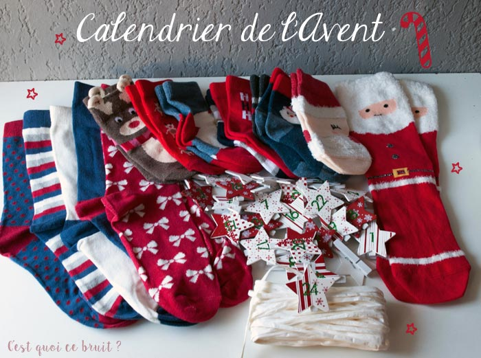 calendrier de l 39 avent en chaussettes diy. Black Bedroom Furniture Sets. Home Design Ideas