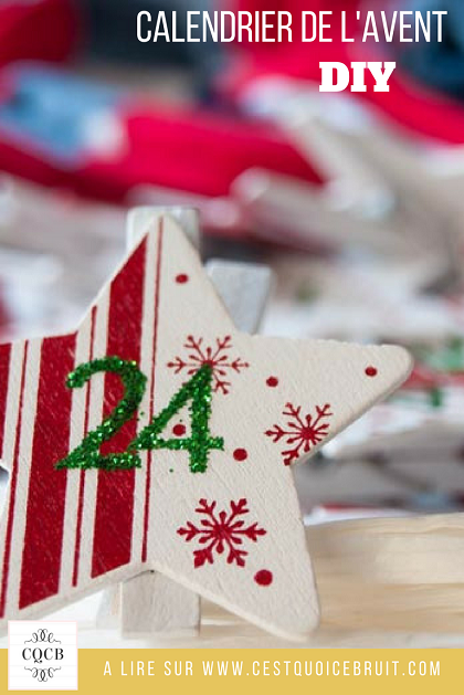 DIY calendrier de l'Avent en chaussettes de Noël