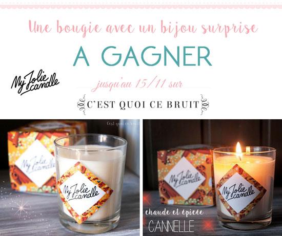 My jolie candle, une bougie, un bijou