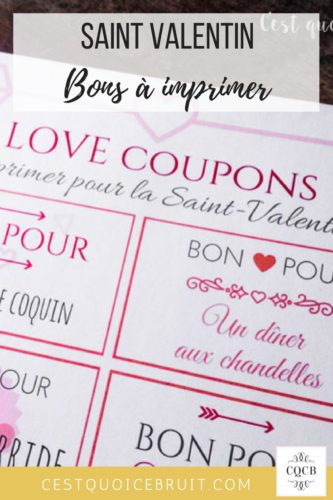 Coupon de Saint-Valentin à imprimer