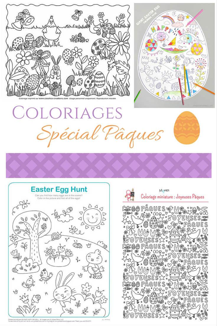 Coloriages gratuits pour Pâques