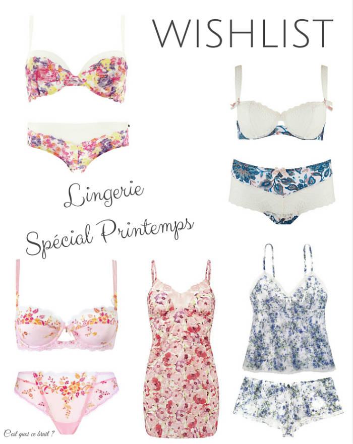 5 ensembles de lingerie spécial printemps