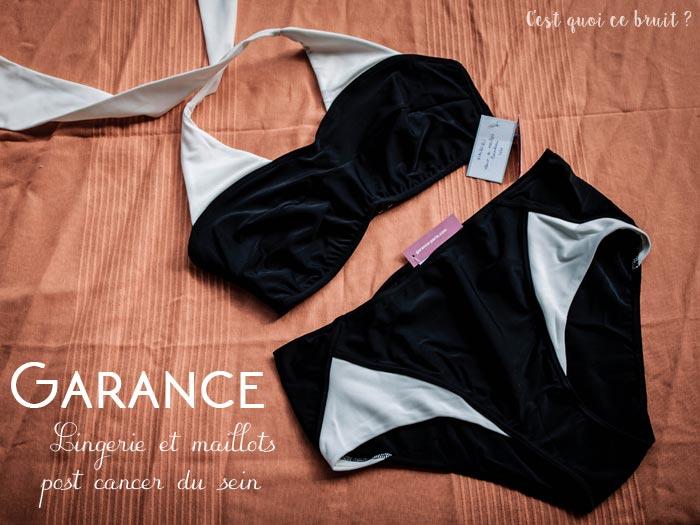 Maillots et lingerie post cancer du sein avec Garance