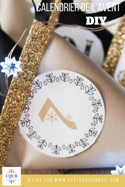 Calendrier de l'Avent berlingot à réaliser soi-même DIY #diy #avent #calendrier #noel #christmas #advent