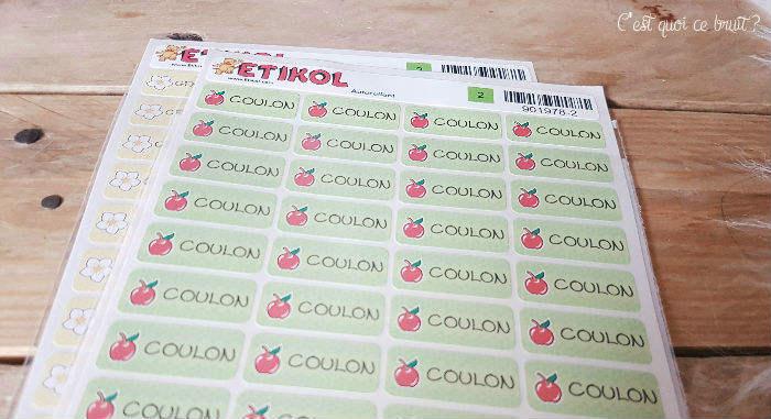 Etikol, les étiquettes autocollantes pour les vêtements des enfants