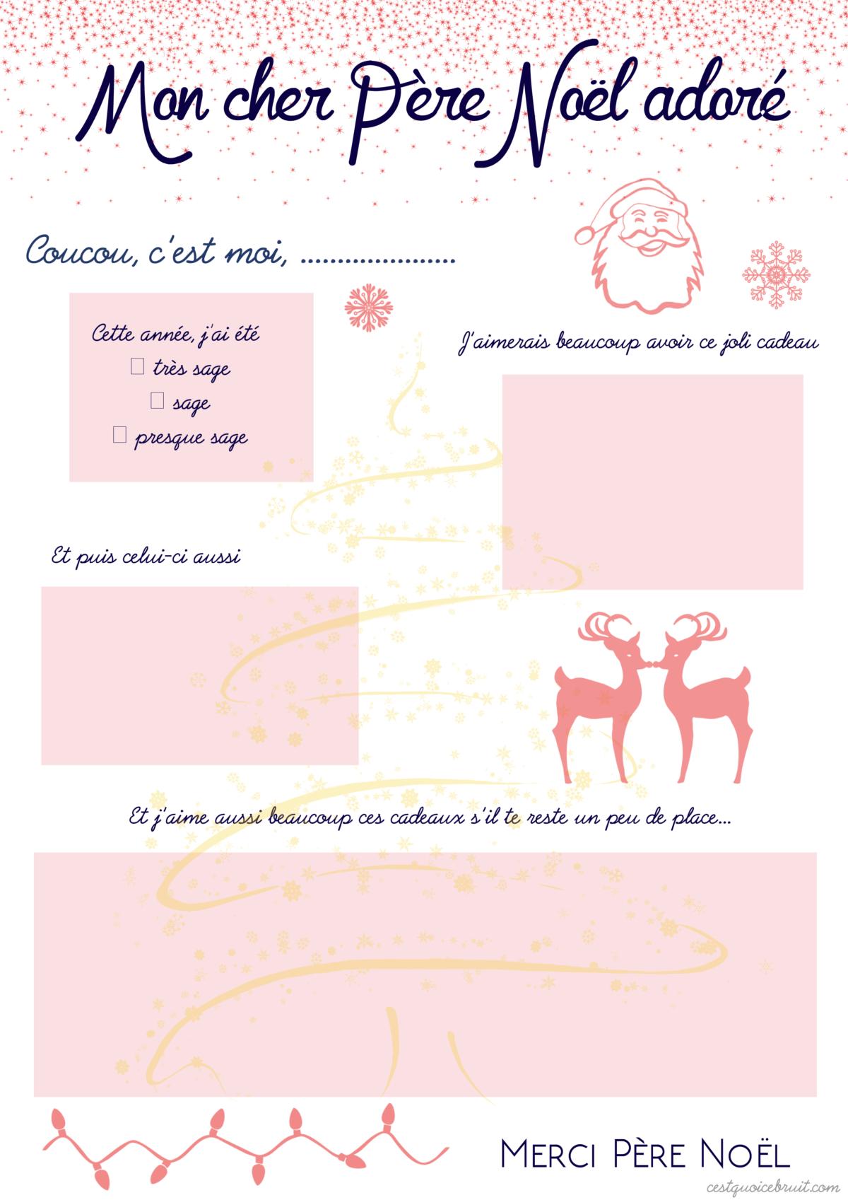 Exceptionnel La Liste de Noël à imprimer (free printable) CV66