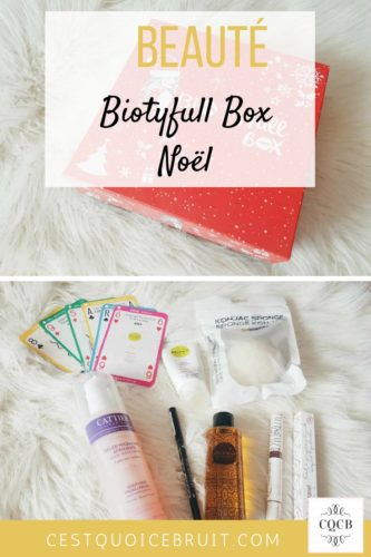 Botyfull box de Noël #biotyfullbox #box #beauté