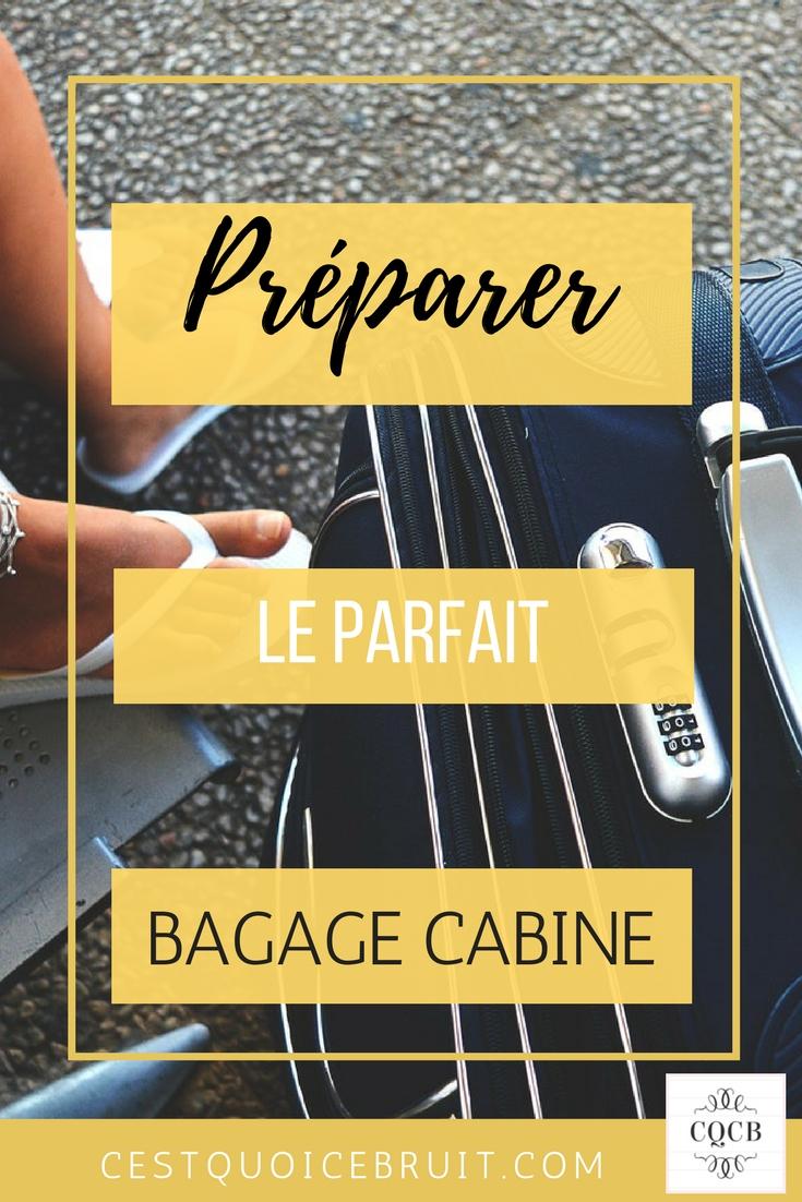 Le parfait bagage cabine #voyage #avion #travel #bagage #conseils