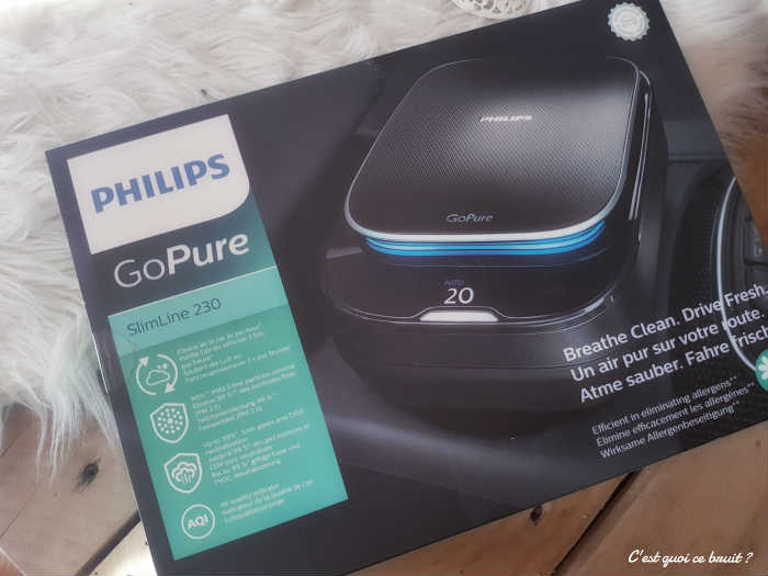 Test Gopure, le purificateur d'air de voiture de Philips
