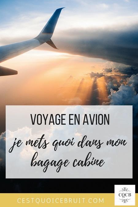 Voyage en avion : que mettre dans son bagage cabine ?